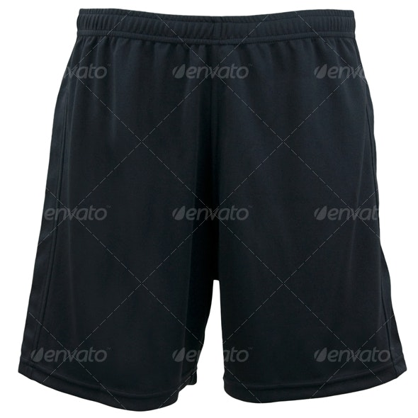Black Gym Shorts - Clothes & Accessories Isolated Objects