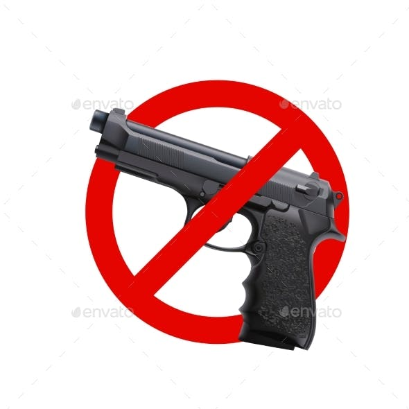 No Guns Sign 01