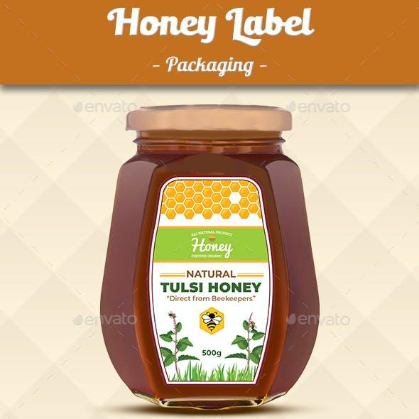 Honey Label - Tulsi Honey