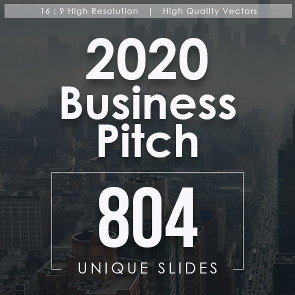 2020 Business Pitch Powerpoint Templates Bundle