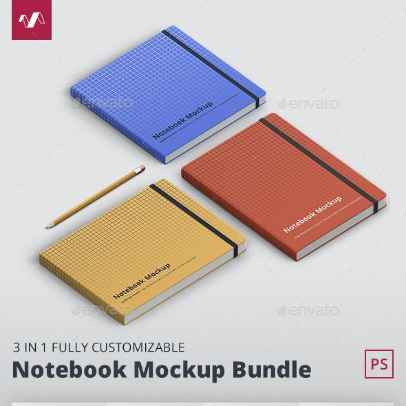 Notebook Mockup Bundle