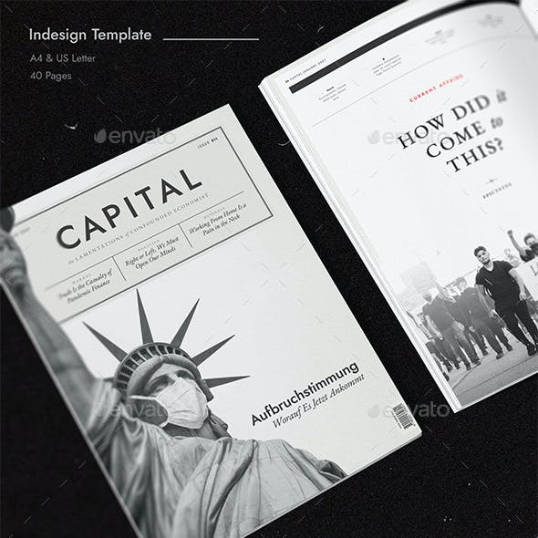 Capital Magazine - 40 Pages Indesign Template