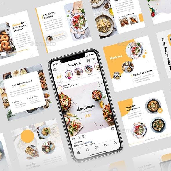 Demirasa – Food and Restaurant Instagram Post Template