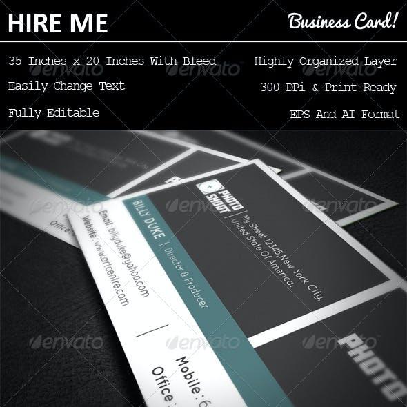 Photo Shoot Business Card