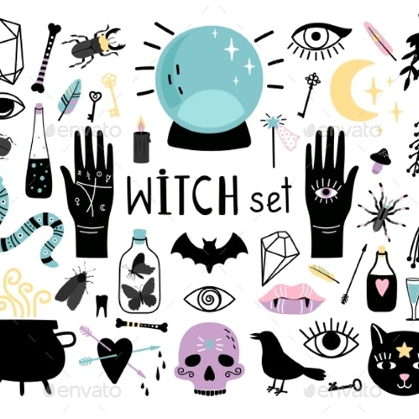 Witch Magic Elements