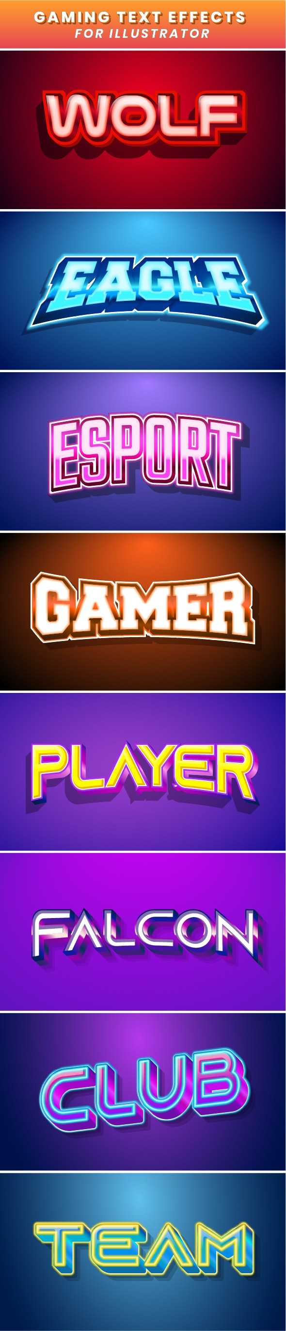 Esport Gaming Text Effect - Styles Illustrator