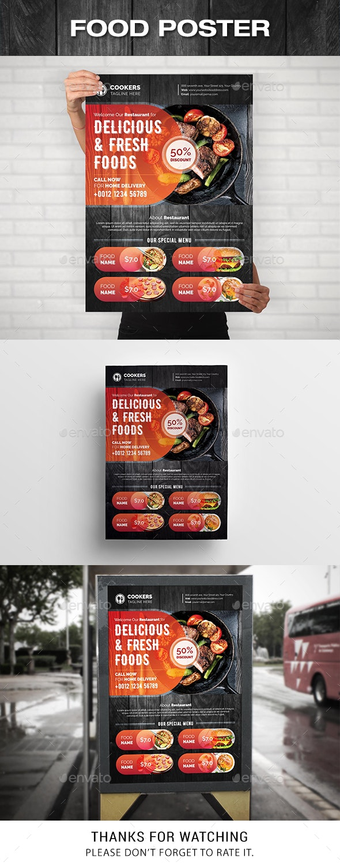 Food Poster - Signage Print Templates
