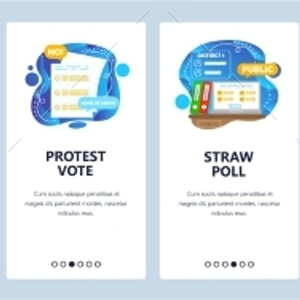 Elections and Voting Process. Exit Poll, Straw