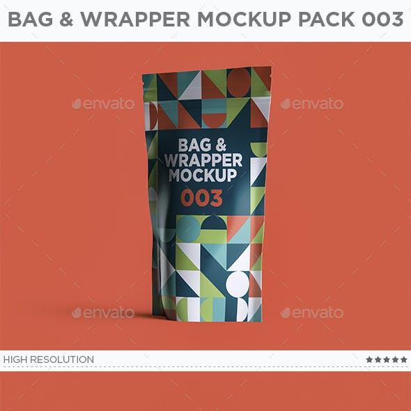 Bag & Wrapper Mockup Pack 003