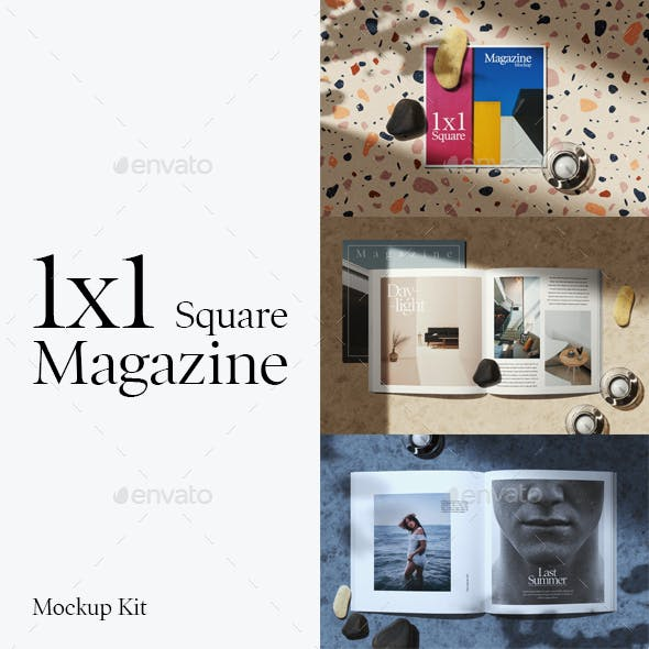 1x1 Square Magazine Mockup Kit