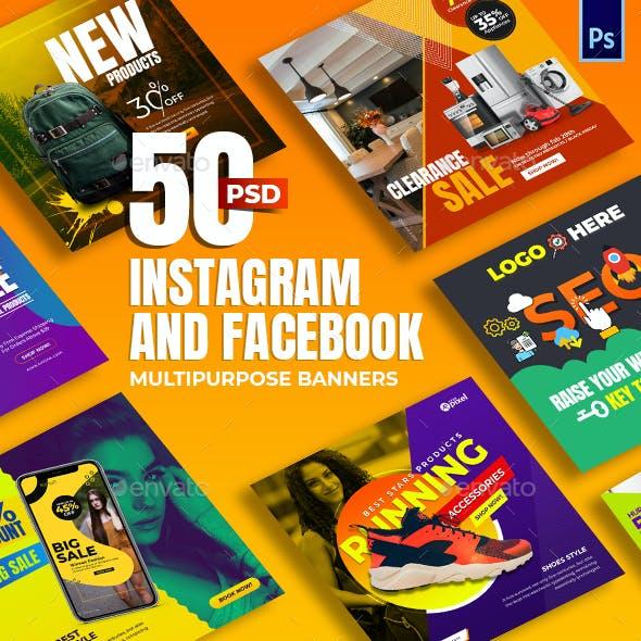 50-Instagram & Facebook Banners