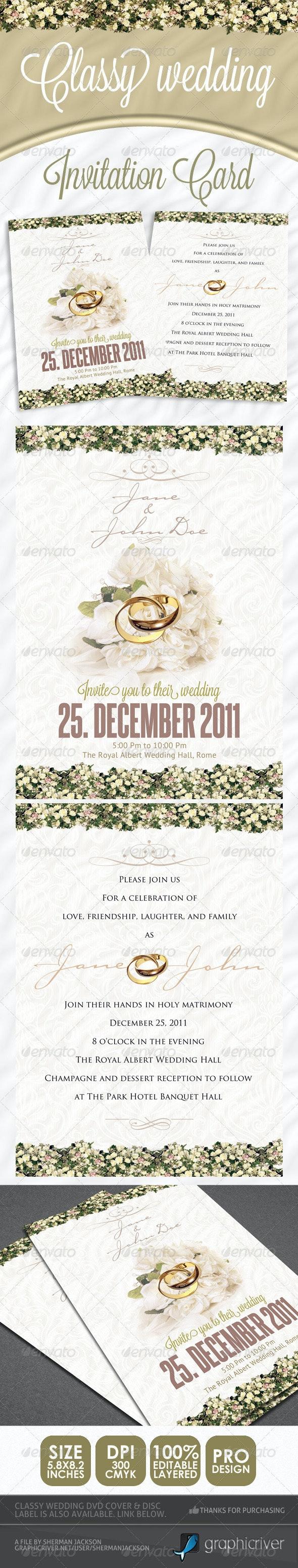 Classy Wedding Invitations - Weddings Cards & Invites