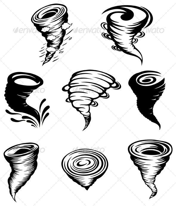 Tornado design elements - Decorative Symbols Decorative