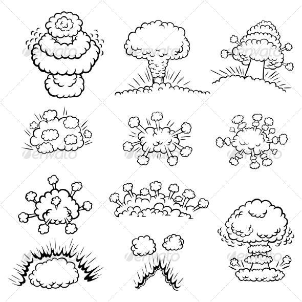Explosions design elements - Decorative Symbols Decorative