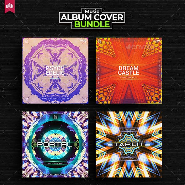 4in1 Music Album Cover - Bundle 15