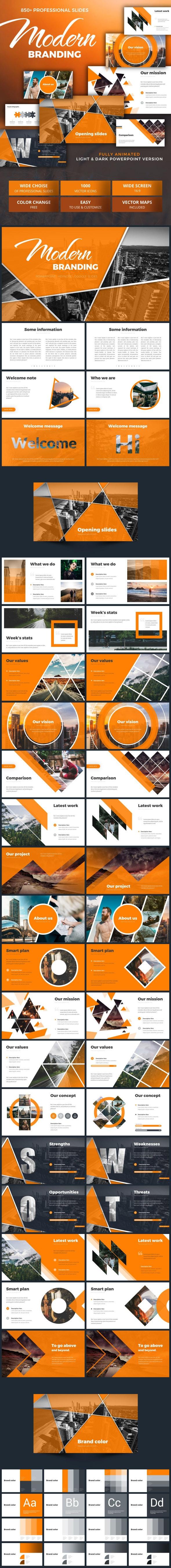 Modern Business Pitch Deck - Pitch Deck PowerPoint Templates