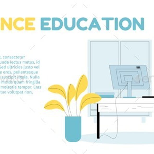 Distance Children Education Online Landing Page