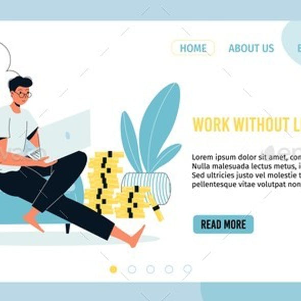Work Without Leaving Home Landing Page Design