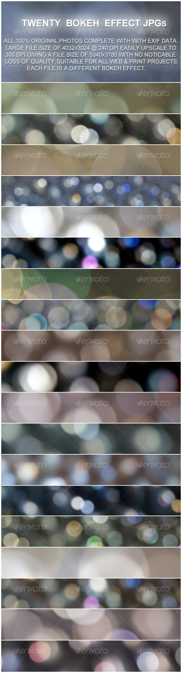 20 Bokeh Effect Backgrounds - Abstract Backgrounds