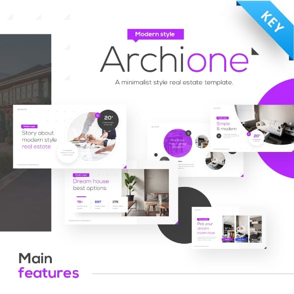 Archione Real Estate Keynote Presentation Template Fully Animated