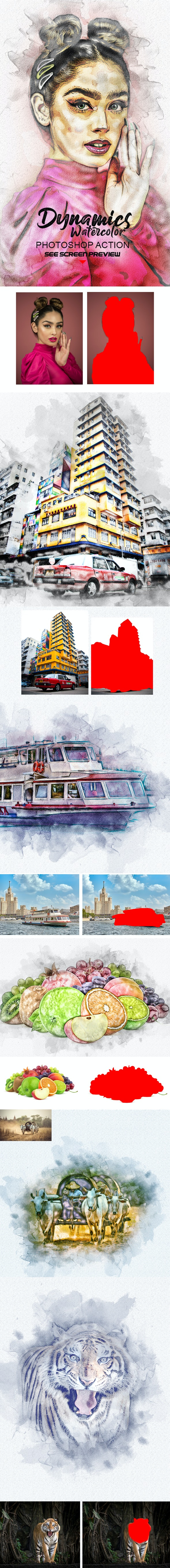 Watercolor Photoshop Action - Actions Photoshop