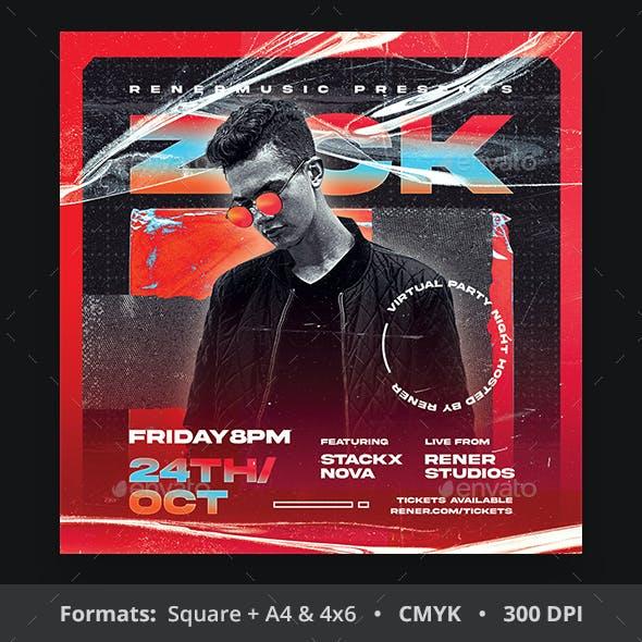 DJ Artist Flyer