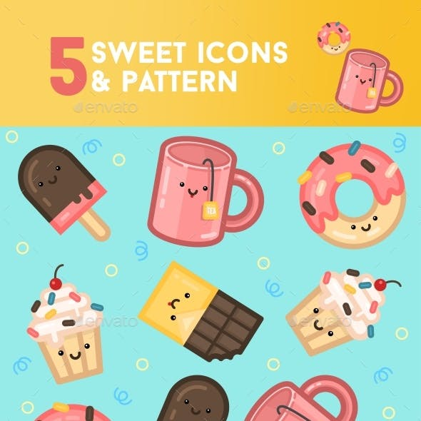 Sweet Icons and Pattern