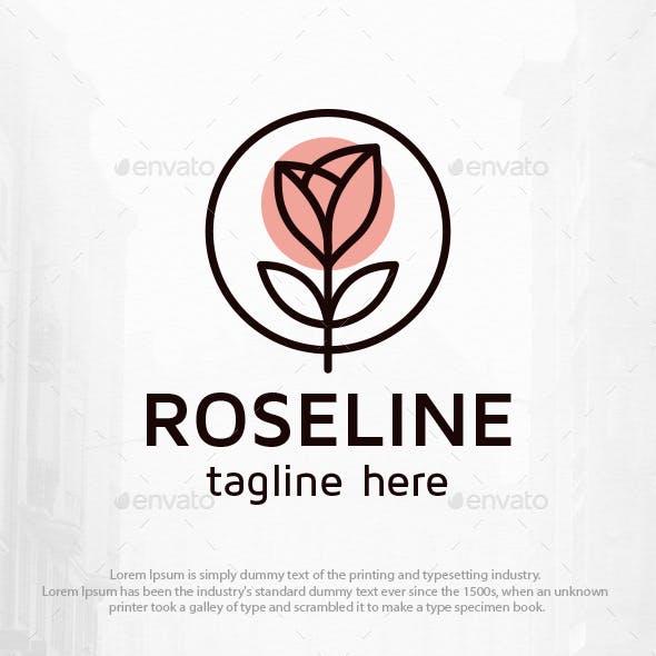 Rose Line Clean Logo Template