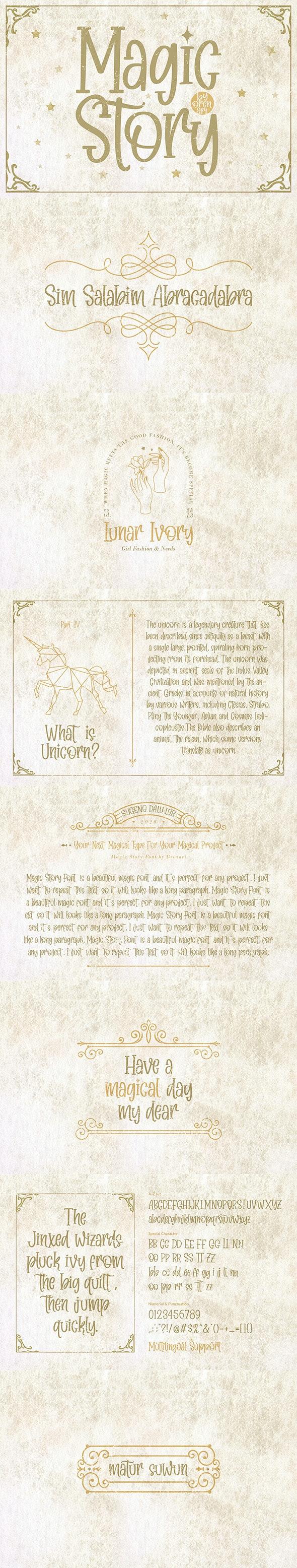 Magic Story - Cool Fonts