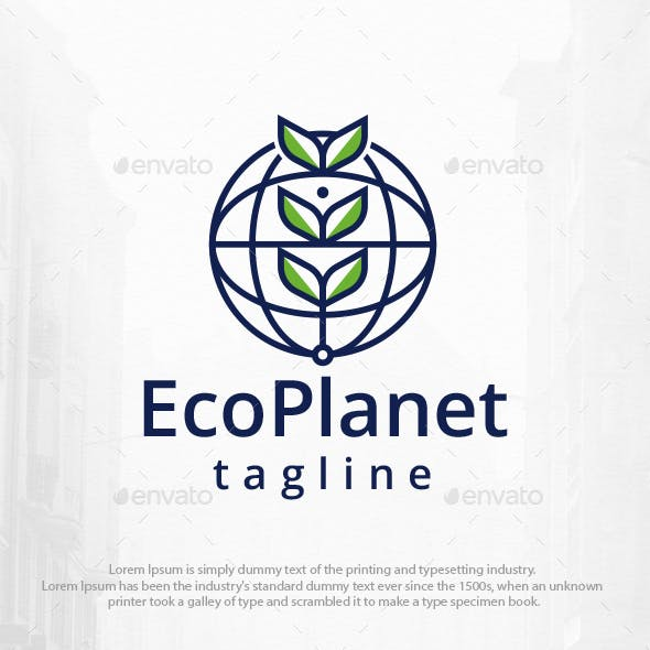 Eco Tech Planet Logo Template
