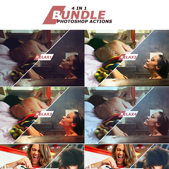 4 IN 1 Photoshop Actions September 2 Bundle