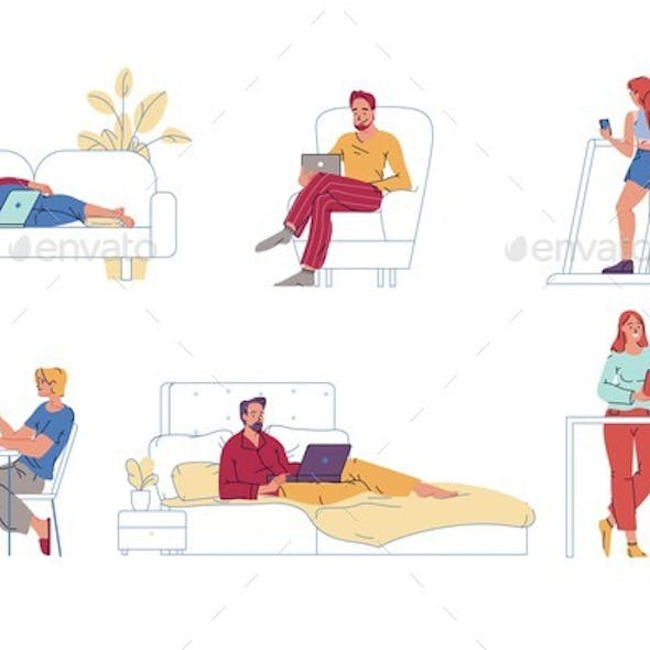 People Rest and Exercise
