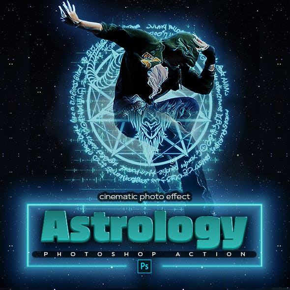 Astrology Space Photoshop Action