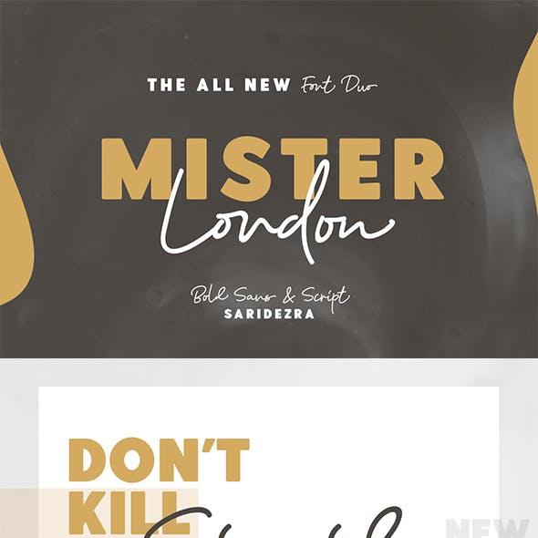 Mister London - Bold Sans & Script