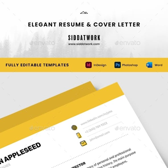 Elegant Resume and Cover Letter