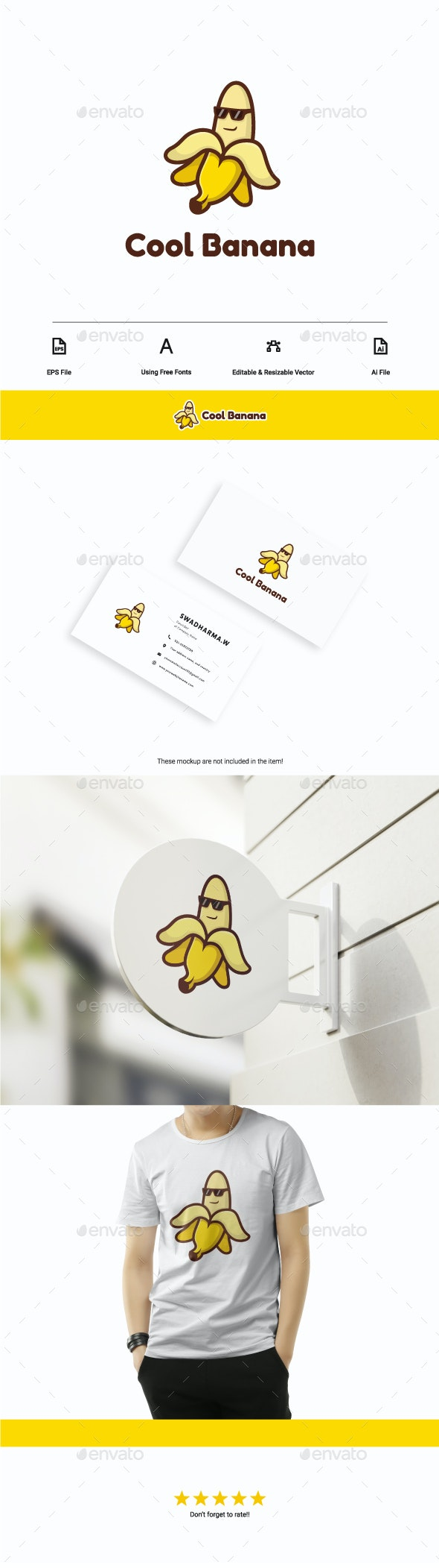 Cool Banana Logo - Food Logo Templates
