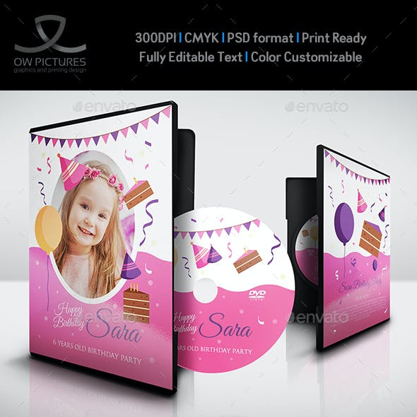 Birthday Party DVD Template Vol.6