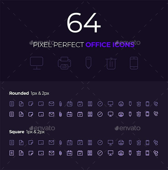 Office Outlined Icons - Business Icons