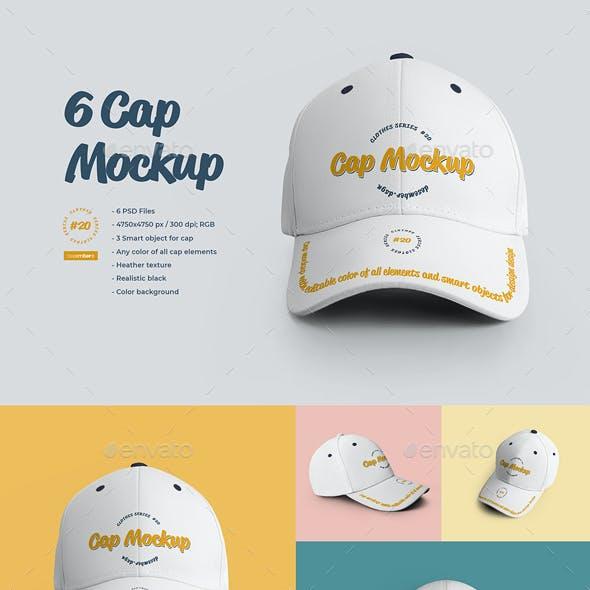 6 Cap Mockup