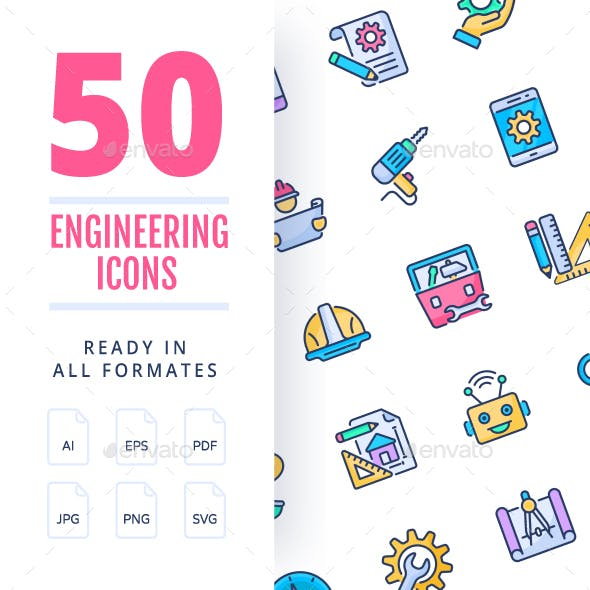 Engineering Color Icons