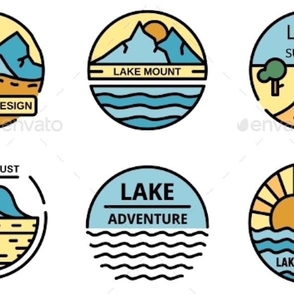 Lake Logo Vector Flat