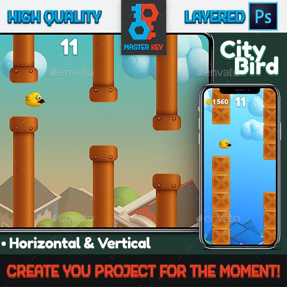 City Bird Game Asset
