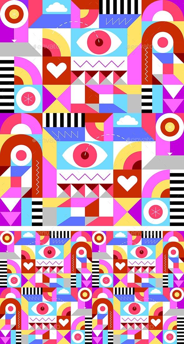 Geometric Seamless Background - Backgrounds Decorative