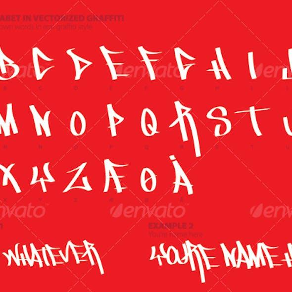 The Alphabet in Graffiti Style