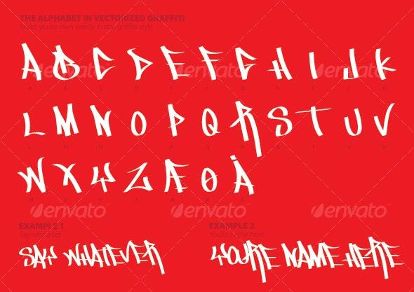 The Alphabet in Graffiti Style - Miscellaneous Vectors