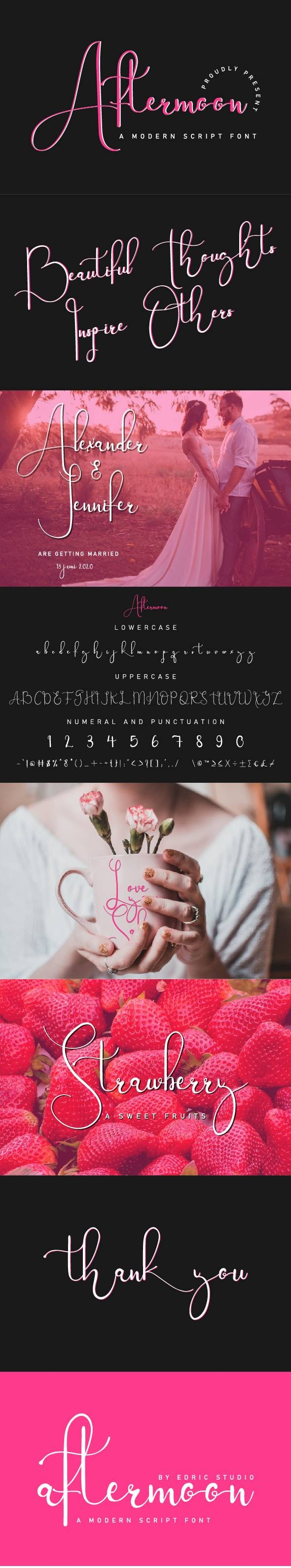 Aftermoon Calligraphy Font - Calligraphy Script