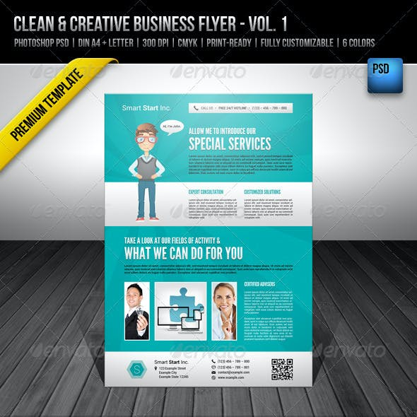 Clean & Creative Business Flyer - Vol. 1