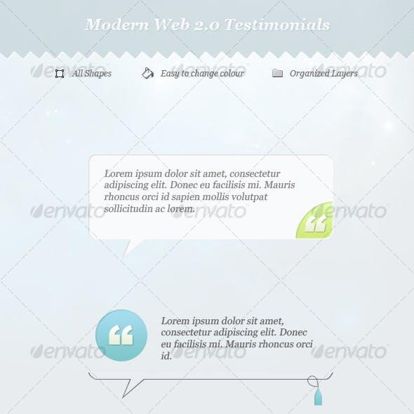 Web 2.0 Testimonials