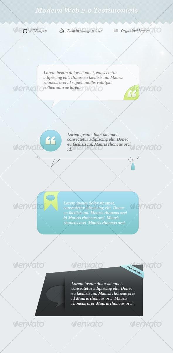 Web 2.0 Testimonials - Web Elements