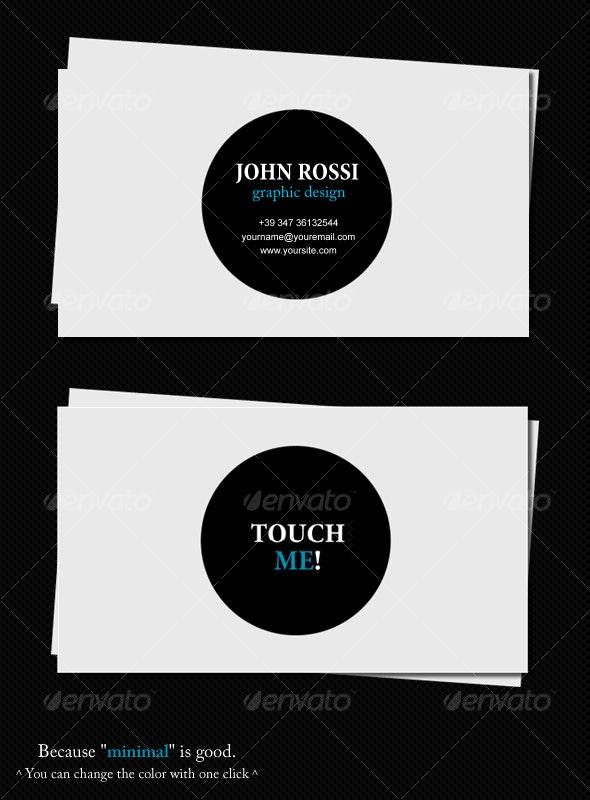 Minimal card - Corporate Business Cards